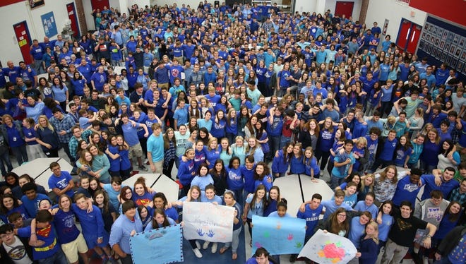 West Ouachita High Schools students and faculty wore blue Thursday to honor the memory of Kirsten Stanfield, a student who had autism and was killed in an accident earlier this week.