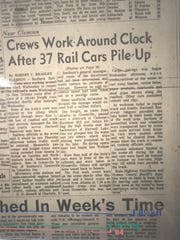 The Greenville News reported 37 boxcars were involved in the 1965 train wreck.