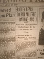 Photo of the Asbury Park Evening Press of July 17,
