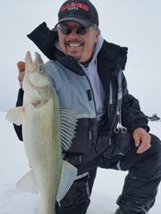 Ted Takasaki on an ice fishing venture.