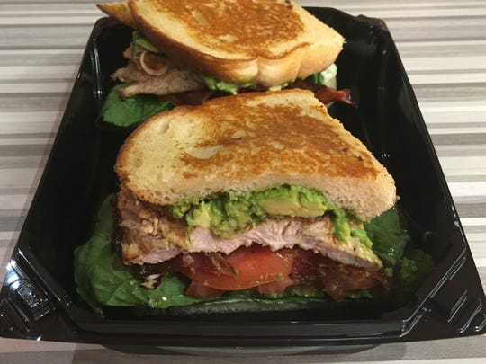 A chicken club sandwich is one of several sandwiches served at the new Habit Burger in Circus Circus Reno.