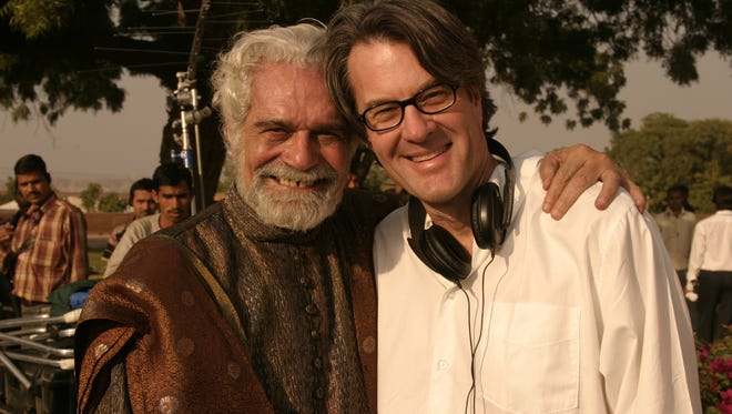 Actor Omar Sharif poses with Michael Sajbel. Sharif recently passed away.