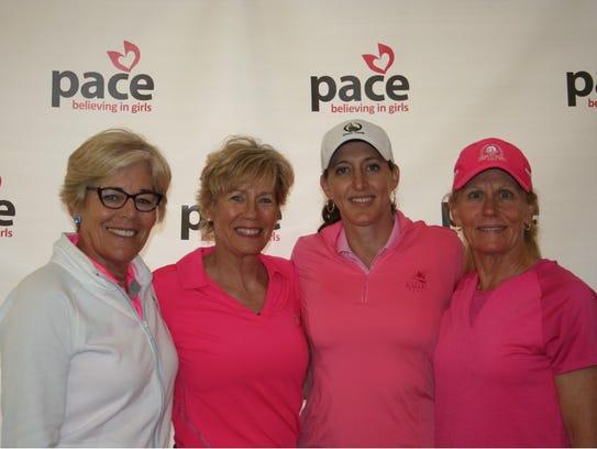 The team of Cindy Booker, Vivian Ebert, Kim Benedict,