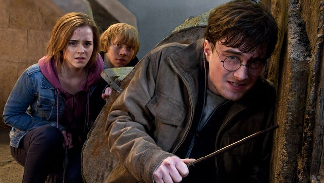 """Emma Watson as Hermione Granger, Rupert Grint as Ron Weasley and Daniel Radcliffe as Harry Potter in a scene from the motion picture """"Harry Potter and the Deathly Hallows - Part 2."""""""