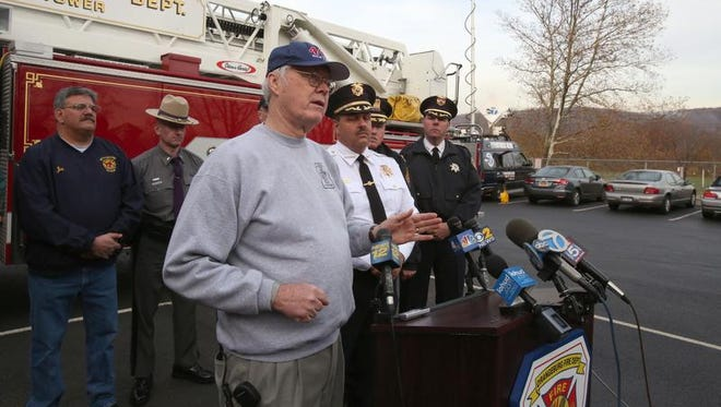 Gordon Wren Jr., director of Rockland County Fire and Emergency Services, speaks at a press conference in 2013.
