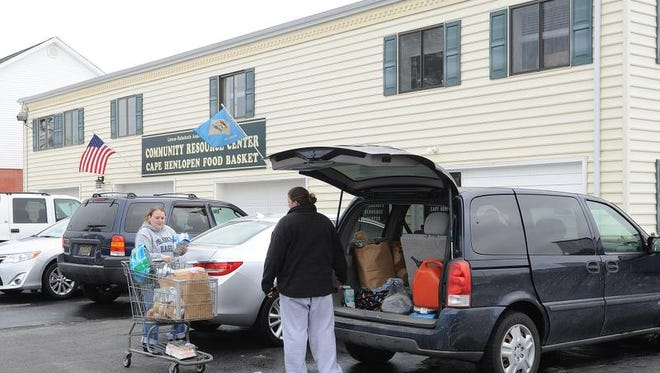 People can come to the Cape Henlopen Food Basket once every 10 to 14 days for essential groceries.