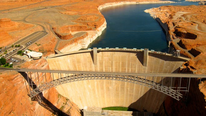 Runoff into Lake Powell, behind Glen Canyon Dam, is expected to be well below average this year.
