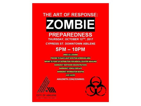 Zombies will be infecting other people during ArtWalk