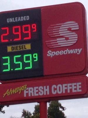 A Speedway on Springfield Pike in Woodlawn was selling gas for $2.99 a gallon on Saturday.