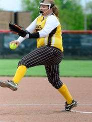 Old Fort's Sarah Hossler is a pitcher on the News-Messenger's softball team.