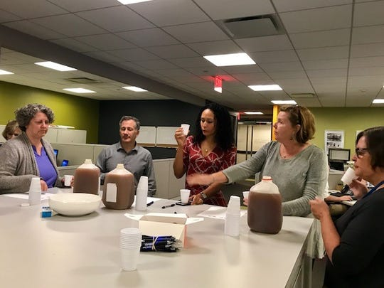 The Journal News hosted a blind taste test of local ciders in its office on Sept. 26, 2017.