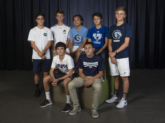 All Shore Boys Tennis Team in Neptune, NJ on May 24,