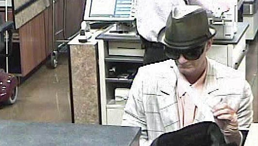 The Sparks Police Department released this photograph of a suspect in a July 14, 2014, robbery of the U.S. Bank branch at the Raley's in the Wingfield Springs area.