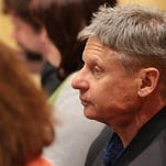 Gary Johnson spoke to a crowd of about 60 at the convention   on Saturday .