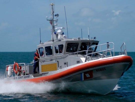 U.S.Coast Guard Cutter Bluefin in the Atlantic Ocean
