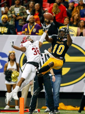 Former Grambling wide receiver Chad Williams (10) will play in next weekend's Senior Bowl in Mobile, Alabama.