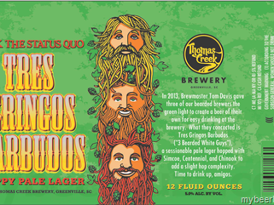 The Tres Gringos Barbudos was released by Thomas Creek Brewery on Sept. 13.