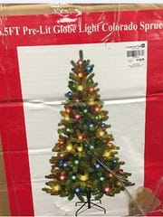 Pre-lit artificial Christmas trees have a fuse that can overheat and blow, posing a fire hazard.