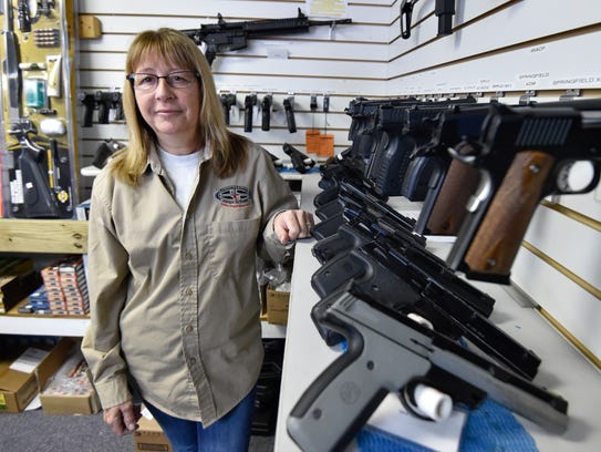 Beth Parsons is shown at Shooter's Choice in Dover,
