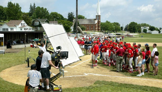 """Filming """"The Final Season"""" in 2006 at the baseball field in Norway."""