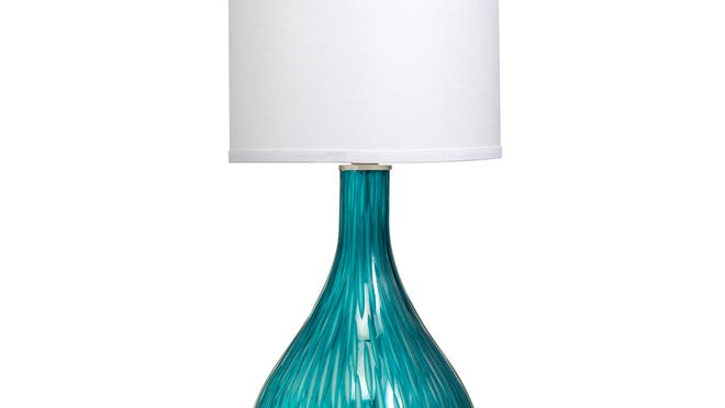 Cool down your decor with a splash of color. Westwood Dharma 1 table lamp by Kichler, $158 at allmodern.com.