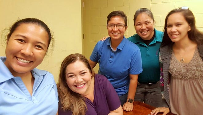 The Guam Police Department Women's Advisory Network are, from the leftt: Harrilee Matsumoto, Helen Toves, Ann Kuper, Susie Santos and Maile Steffy-Lizama