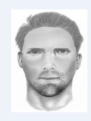 A composite sketch of the man suspected of sexual assault