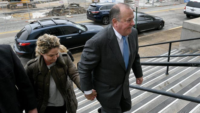 Mark Hazelwood leaving the Joel W. Solomon Federal  Courthouse in Chattanooga Wednesday, Feb. 14, 2018 where the former Pilot Flying J employee is on trial for fraud.