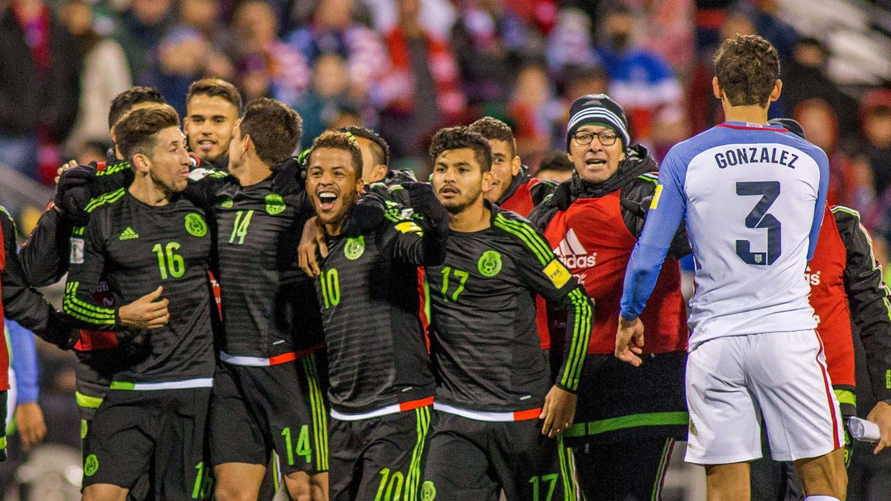 Mexico scored the winning goal late to hand the U.S. a 2-1 loss on home soil in Columbus.