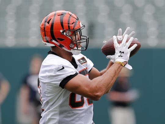 Cincinnati Bengals tight end C.J. Uzomah has gotten