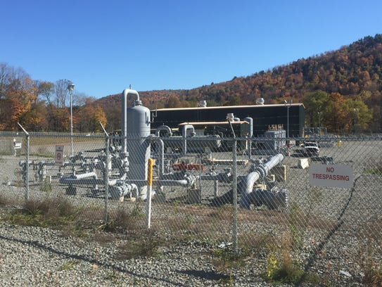 A compressor station at a pipeline in Susquehanna County