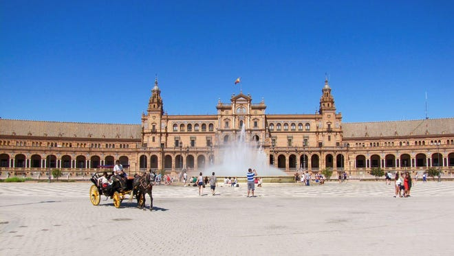 The Plaza de España is one of the most breathtaking sights in Sevilla.