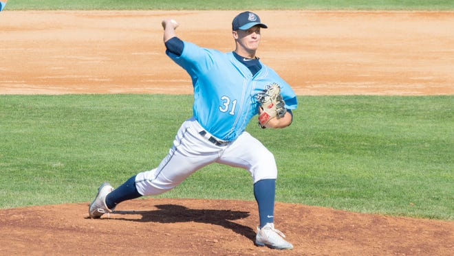 St. Cloud Rox pitcher Jack Cushing delivers a pitch Sunday against La Crosse at Joe Faber Field.