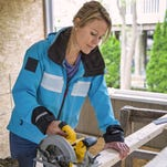 """Bethany Beach builder Marnie Oursler is pictured on the set of """"Big Beach Builds,"""" during its pilot episode."""