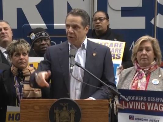 Cuomo on bus tour