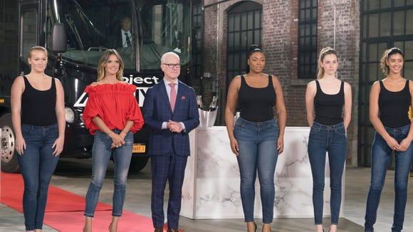 Heidi Klum, Tim Gunn and models welcome the designers