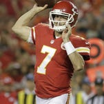 Chiefs quarterback Aaron Murray (7) threw for 146 yards and 2TDs Friday.