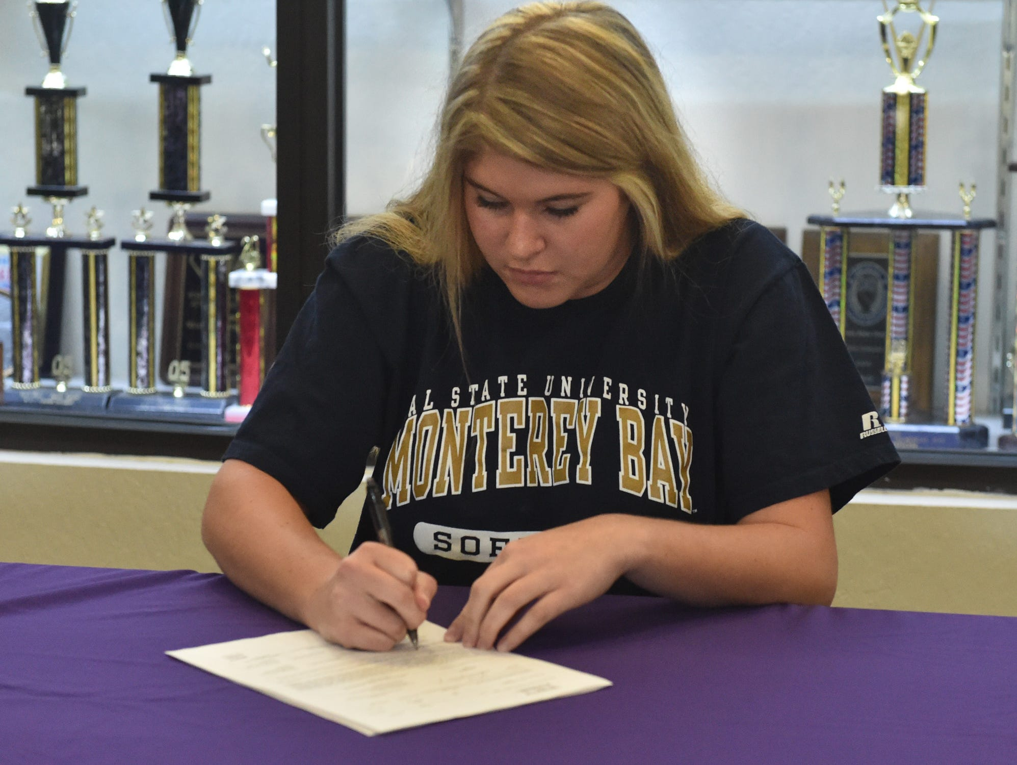 Hayley Fein is one of 10 area athletes signing to play softball in college.