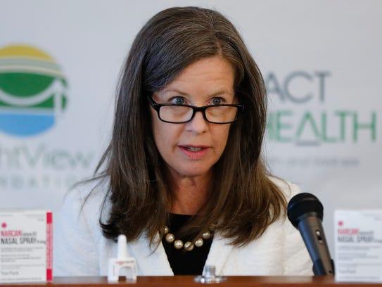 Hamilton County Commissioner Denise Driehaus speaks