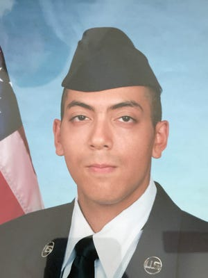 A photo of Senior Airman Michael Anthony Beaton, 26, who recently died in a boating accident at Pyramid Lake.