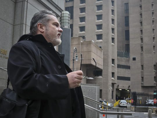 Jack Donson, president of New York-based My Federal Prison Consultant and a retired federal Bureau of Prisons employee, outside federal court and Manhattan Correctional Center, right, where he's consulted with inmate clients, Friday March 1, 2019, in New York.