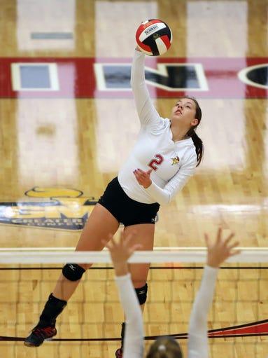 10/1 Princeton vs. Sycamore volleyball