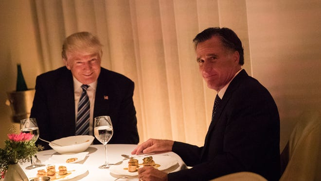 President-elect Trump and Mitt Romney on Nov. 29, 2016.