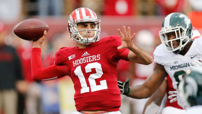 Indiana quarterback Zander Diamont.