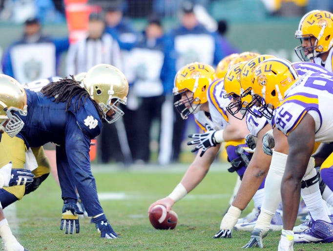 ncaa college football bowl scores who won the notre dame football game today