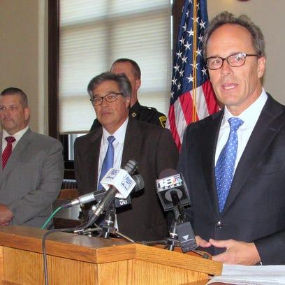U.S. Attorney William Hochul announces federal drug
