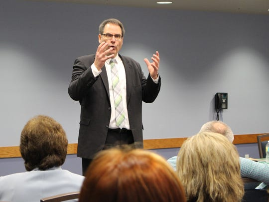 Mark Rudin, vice president for research and economic development at Boise State University, answered questions last week from faculty, staff and student at Florida Gulf Coast University. He is one of four finalists for the president's job at FGCU.