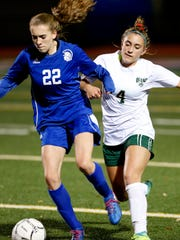 Vestal's Victoria McKnight chases after Maine-Endwell's