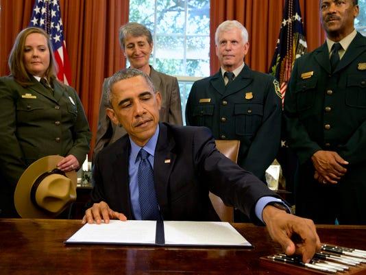 Barack Obama, April Slayton, Sally Jewell, Tom Tidwell, Randy Moore