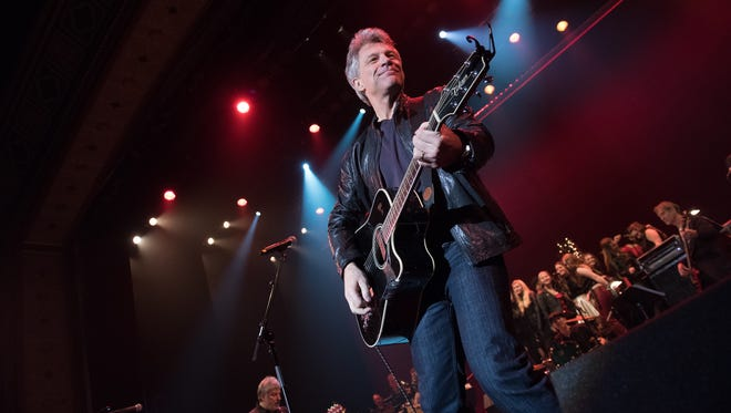 Jon Bon Jovi, on stage at the Count Basie Theatre in Red Bank.